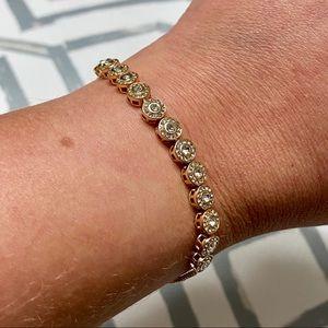 Gold and Diamond Bracelet - Ann Taylor Factory